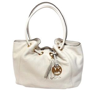 MICHAEL Michael Kors Ivory East West Ring Tote